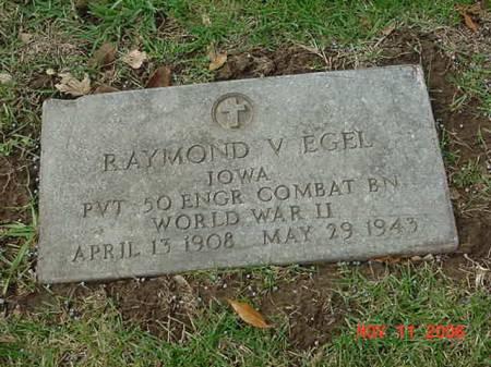 EGEL, RAYMOND V - Scott County, Iowa   RAYMOND V EGEL