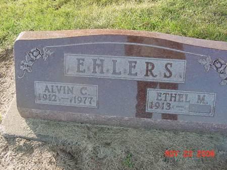 EHLERS, ETHEL M - Scott County, Iowa | ETHEL M EHLERS