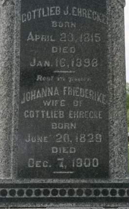 EHRECKE, GOTTLIEB J. - Scott County, Iowa | GOTTLIEB J. EHRECKE