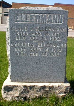 ELLERMANN, CLAUS J. - Scott County, Iowa | CLAUS J. ELLERMANN