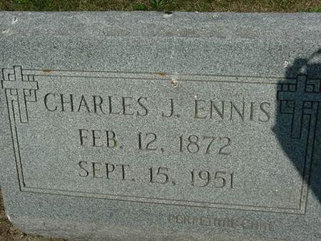 ENNIS, CHARLES J - Scott County, Iowa | CHARLES J ENNIS