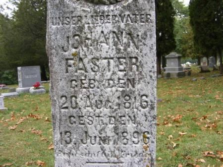 FASTER, JOHANN - Scott County, Iowa | JOHANN FASTER
