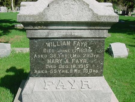 FAYR, WILLIAM - Scott County, Iowa | WILLIAM FAYR