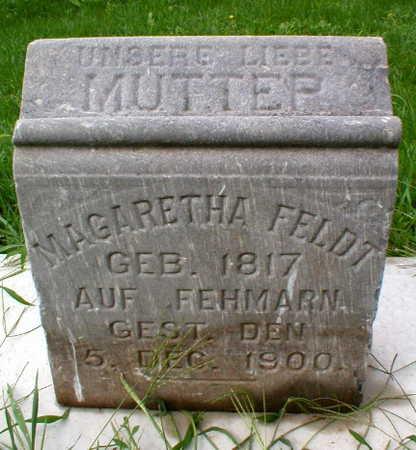 FELDT, MARGARETHA - Scott County, Iowa   MARGARETHA FELDT