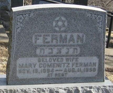 COMENITZ FERMAN, MARY - Scott County, Iowa   MARY COMENITZ FERMAN