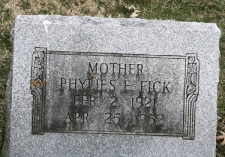 FICK, PHYLLES E. - Scott County, Iowa | PHYLLES E. FICK