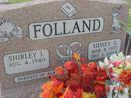 FOLLAND, SIDNEY D - Scott County, Iowa   SIDNEY D FOLLAND