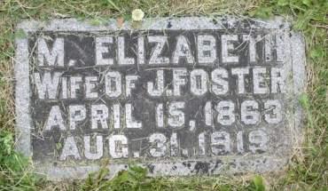 FOSTER, M. ELIZABETH - Scott County, Iowa   M. ELIZABETH FOSTER