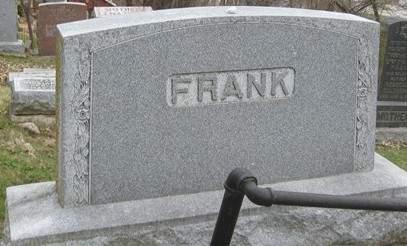 FRANK, FAMILY MONUMENT - Scott County, Iowa | FAMILY MONUMENT FRANK