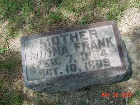 FRANK, MINNA - Scott County, Iowa | MINNA FRANK