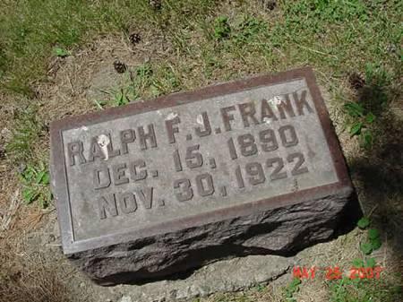 FRANK, RALPH F J - Scott County, Iowa | RALPH F J FRANK