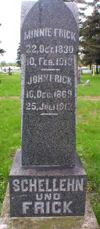 FRICK, MINNIE - Scott County, Iowa | MINNIE FRICK