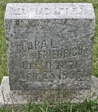 FRIEDRICH, CLARA L. - Scott County, Iowa | CLARA L. FRIEDRICH
