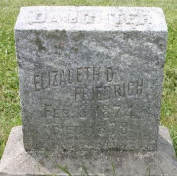 FRIEDRICH, ELIZABETH - Scott County, Iowa | ELIZABETH FRIEDRICH