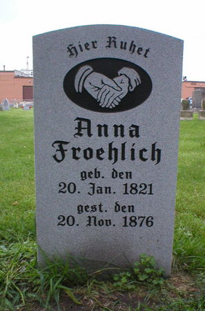 FROEHLICH, ANNA - Scott County, Iowa   ANNA FROEHLICH