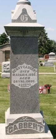 GABBERT, HENRY - Scott County, Iowa   HENRY GABBERT