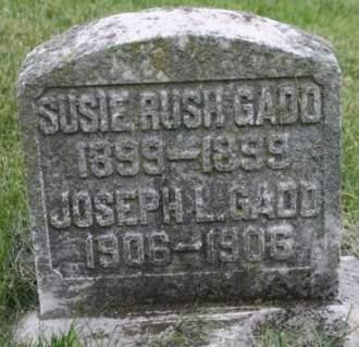 GADD, SUSIE RUSH - Scott County, Iowa | SUSIE RUSH GADD