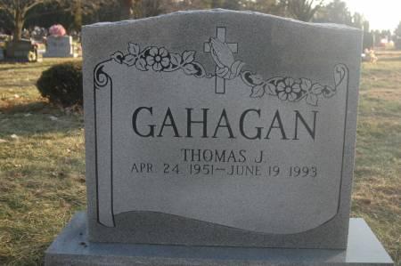 GAHAGAN, THOMAS J. - Scott County, Iowa   THOMAS J. GAHAGAN