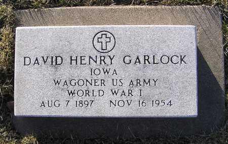 GARLOCK, DAVID HENRY - Scott County, Iowa | DAVID HENRY GARLOCK
