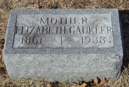 GAUKLER, ELIZABETH - Scott County, Iowa | ELIZABETH GAUKLER