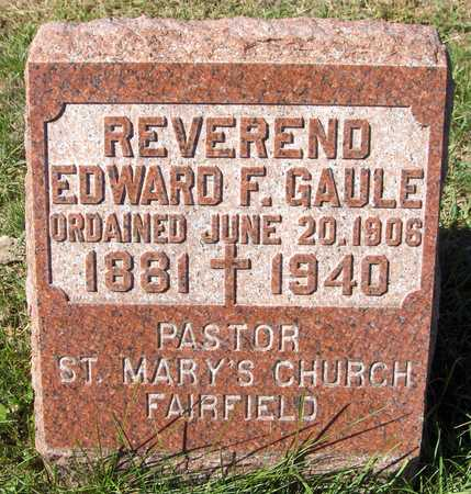GAULE, REV. EDWARD F. - Scott County, Iowa | REV. EDWARD F. GAULE