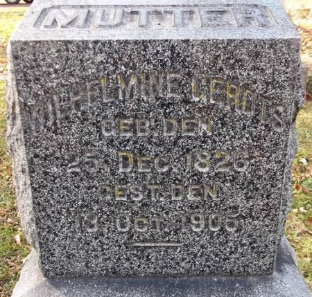 GERDTS, WILHELMINE - Scott County, Iowa | WILHELMINE GERDTS