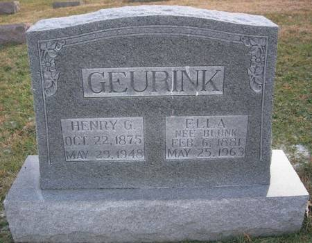 GEURINK, HENRY G. - Scott County, Iowa | HENRY G. GEURINK
