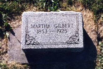 WILKINSON GILBERT, MARTHA - Scott County, Iowa | MARTHA WILKINSON GILBERT