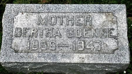 LOENSER GOENNE, BERTHA - Scott County, Iowa | BERTHA LOENSER GOENNE