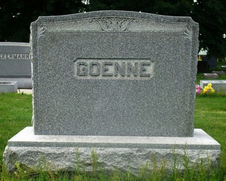 GOENNE, FAMILY MONUMENT - Scott County, Iowa | FAMILY MONUMENT GOENNE