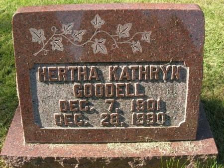 GOODELL, HERTHA KATHRYN - Scott County, Iowa | HERTHA KATHRYN GOODELL