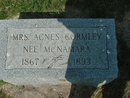 MCNAMARA GORMLEY, AGNES - Scott County, Iowa | AGNES MCNAMARA GORMLEY