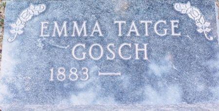 GOSCH, EMMA - Scott County, Iowa   EMMA GOSCH