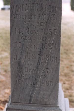 RATHJE GOSCH, MARGARETHA - Scott County, Iowa | MARGARETHA RATHJE GOSCH