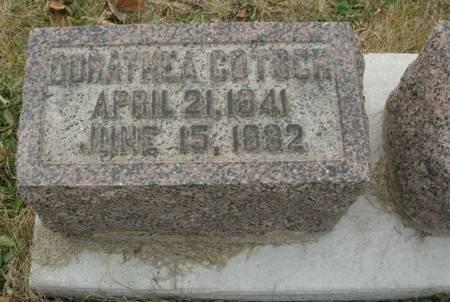 GOTSCH, DORATHEA - Scott County, Iowa   DORATHEA GOTSCH