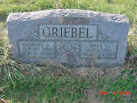 GRIEBEL, RAYMOND C - Scott County, Iowa | RAYMOND C GRIEBEL
