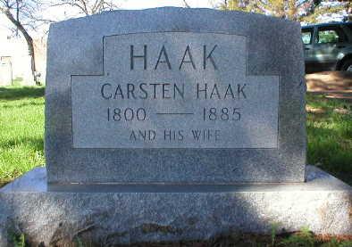 HAAK, CARSTEN - Scott County, Iowa   CARSTEN HAAK