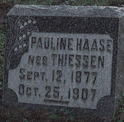 HAASE, PAULINE - Scott County, Iowa | PAULINE HAASE