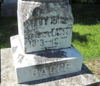 HAGGE, MARY - Scott County, Iowa | MARY HAGGE