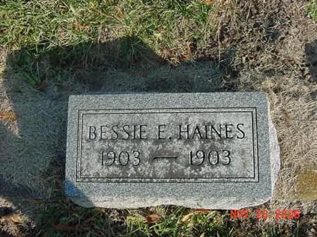 HAINES, BESSIE E - Scott County, Iowa | BESSIE E HAINES