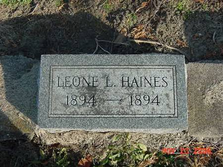 HAINES, LEONE L - Scott County, Iowa   LEONE L HAINES