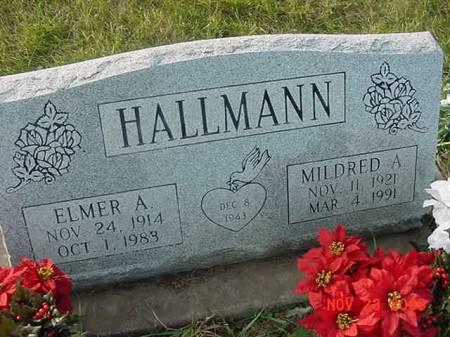 HALLMANN, MILDRED A - Scott County, Iowa | MILDRED A HALLMANN
