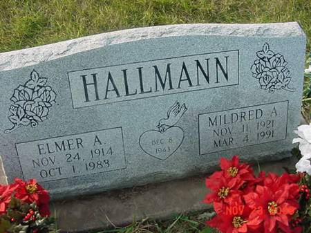 HALLMANN, ELMER A - Scott County, Iowa | ELMER A HALLMANN