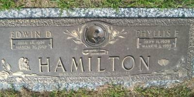 HAMILTON, PHYLISS F - Scott County, Iowa   PHYLISS F HAMILTON