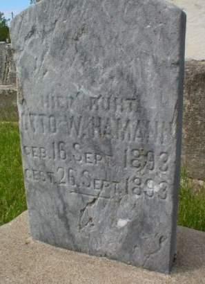 HAMMANN, OTTO W. - Scott County, Iowa   OTTO W. HAMMANN