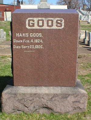 GOOS, HANS - Scott County, Iowa   HANS GOOS