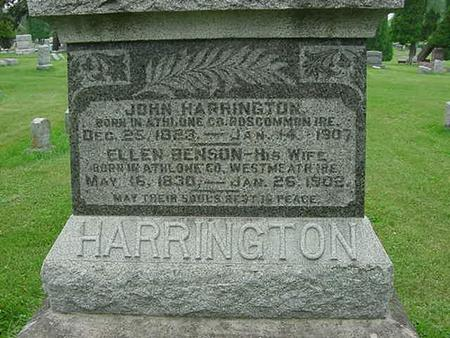 HARRINGTON, JOHN - Scott County, Iowa | JOHN HARRINGTON