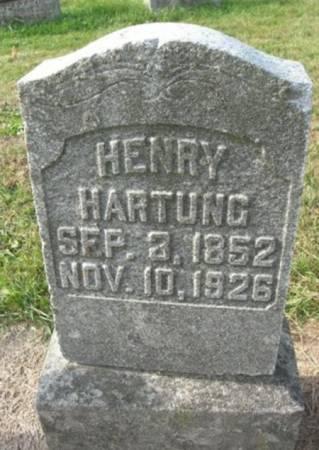HARTUNG, HENRY - Scott County, Iowa   HENRY HARTUNG