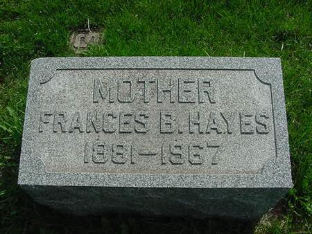HAYES, FRANCES B - Scott County, Iowa | FRANCES B HAYES