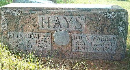 GRAHAM HAYS, ETTA MAE - Scott County, Iowa | ETTA MAE GRAHAM HAYS